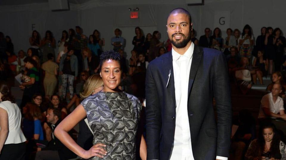 Kimberly and Tyson Chandler at Fashion Week in 2014. (Getty Images)