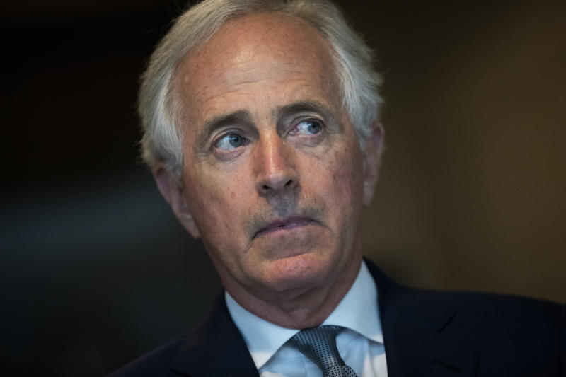 Senate Foreign Relations Committee Chairman Bob Corker (R-Tenn.) has called for an independent inquiry into the killing of Saudi journalist Jamal Khashoggi. (Drew Angerer via Getty Images)