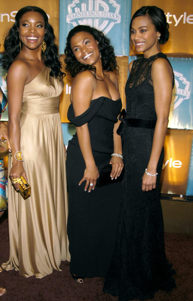 <p><em><em>Pals Gabrielle Union, Nia Long, and Saldana attend the InStyle and Warner Bros. Golden Globes party on Jan 15, 2007. Union and Saldana starred in <em>Constellation</em> in 2005. (Photo: Clint Spaulding/Getty Images) </em></em></p>