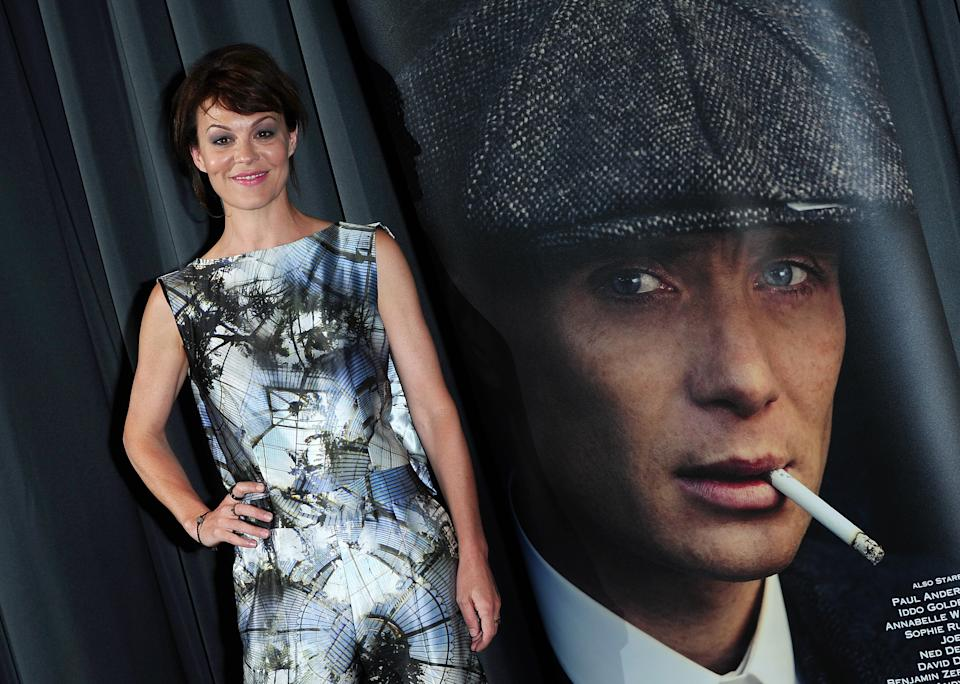 Helen McCrory arriving at a gala screening of Peaky Blinders at the BFI, London.