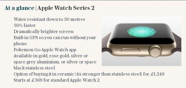At a glance | Apple Watch Series 2