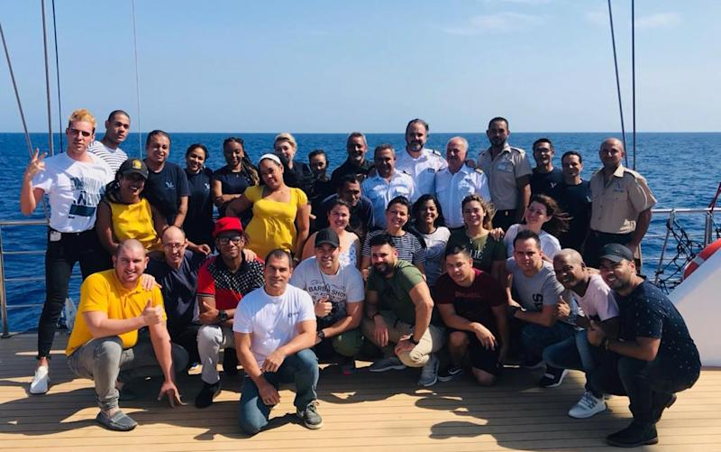 Cuban crew from MSC, who were returned home by Variety Cruises