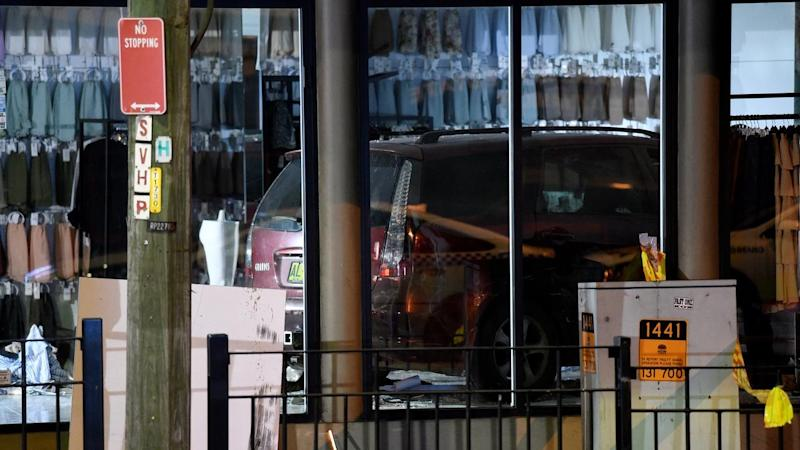 A driver has been rearrested a day after crashing his car into a Sydney hijab shop