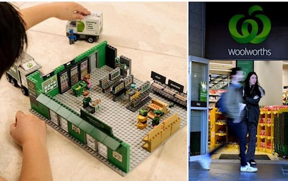 Woolworths Bricks collectables range. Source: Supplied/AAP