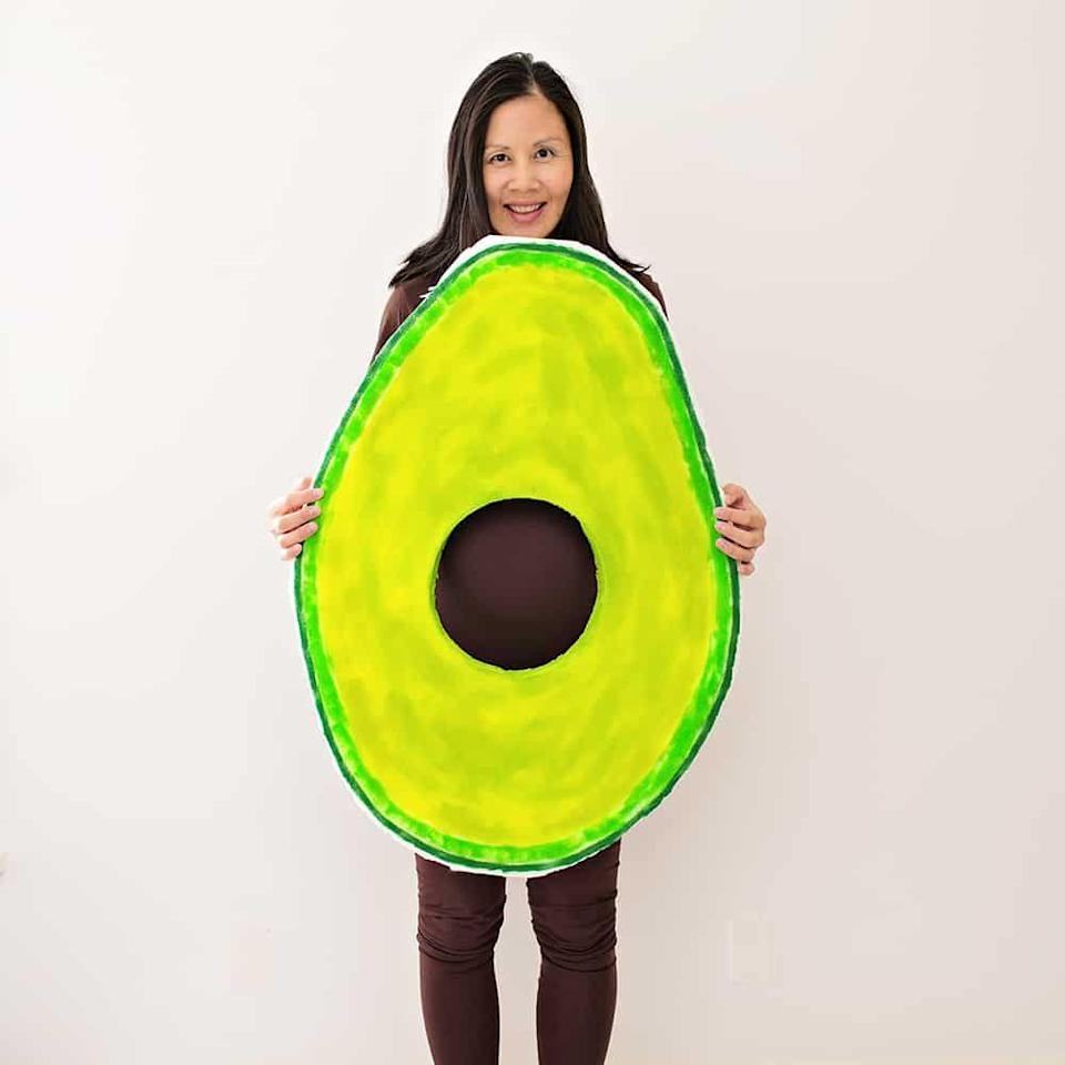 """<p>Avoca-<em>duh</em> you need this easy costume in your life, especially because your bump makes for the perfect pit. If you have other little ones, let them in on the fun dressed up as slices of toast! </p><p><strong>Get the tutorial at <a href=""""https://www.hellowonderful.co/post/easy-diy-avocado-maternity-pregnancy-costume/"""" rel=""""nofollow noopener"""" target=""""_blank"""" data-ylk=""""slk:Hello, Wonderful"""" class=""""link rapid-noclick-resp"""">Hello, Wonderful</a>. </strong></p><p><strong><a class=""""link rapid-noclick-resp"""" href=""""https://www.amazon.com/FoamTouch-Upholstery-Foam-Density-Cushion/dp/B00TSVSA7C/?tag=syn-yahoo-20&ascsubtag=%5Bartid%7C10050.g.4972%5Bsrc%7Cyahoo-us"""" rel=""""nofollow noopener"""" target=""""_blank"""" data-ylk=""""slk:SHOP FOAM"""">SHOP FOAM</a><br></strong></p>"""