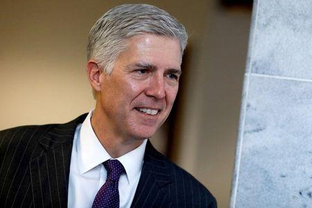 Supreme Court nominee Neil Gorsuch on Capitol Hill in Washington
