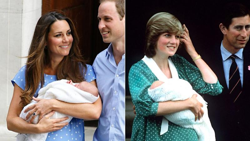 Kate Middleton Channels Princess Diana With Polka-Dot Dress to Present Newborn Son