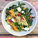 """<p>This is the least basic kale has ever looked.</p><p>Get the recipe from <a href=""""https://www.delish.com/cooking/recipe-ideas/recipes/a43966/roasted-sweet-potatoes-quinoa-kale-dried-cranberries-feta-recipe/"""" rel=""""nofollow noopener"""" target=""""_blank"""" data-ylk=""""slk:Delish"""" class=""""link rapid-noclick-resp"""">Delish</a>.</p>"""