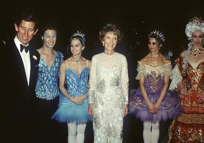 <p>In June 1981, Prince Charles made a trip to New York City, where he and First Lady of the United States Nancy Reagan attended the Royal Ballet Gala at Lincoln Center. </p>