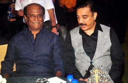 Tamil super stars Rajinikanth and Kamal Haasan took their decades-long friendship to the next level, as they hinted of a possible tie-up, politically. While the fans of both the superstars were thrilled at the news, Tamil Nadu parties have sought to downplay their reactions to the news. Rajinikanth first announced that he would be venturing into politics and setting up his party in 2017. This, however, hasn't materialised so far, while Kamal Haasan launched his party, the Makkal Needhi Maiam, in February, 2018. <em><strong>Image credit</strong></em>: Bollywood Hungama.