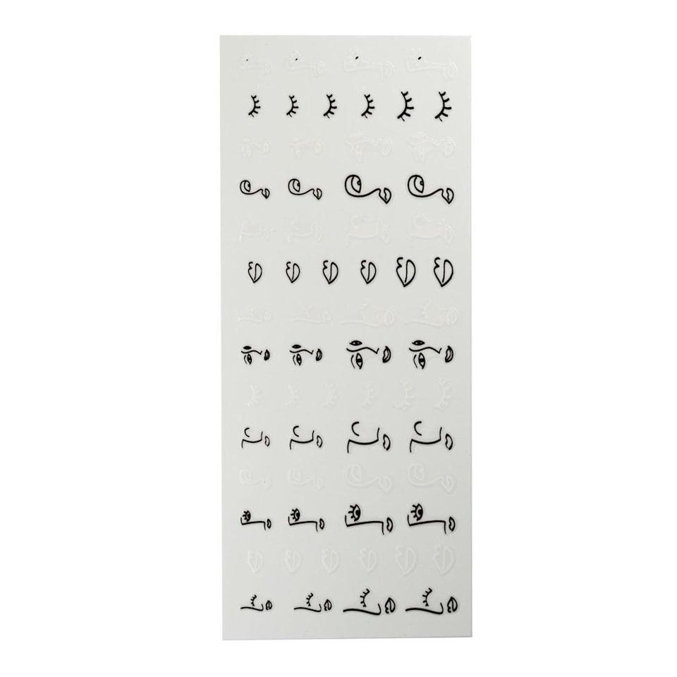 <p>Nail-art stickers on a clear back allow you to peel, stick, and place designs onto any nail polish shade. The <span>Ciaté London Cheat Sheets</span> ($18) include abstract illustrations.</p>