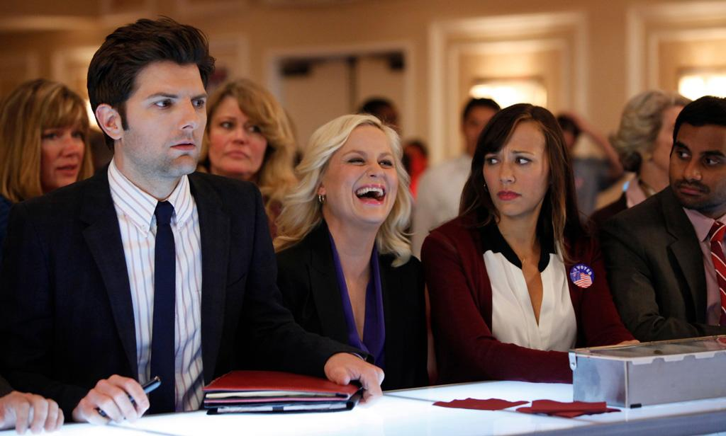 "<b>""Parks and Recreation""</b><br><br>Thursday, 5/10 at 9:30 PM on NBC<br><br><a href=""http://yhoo.it/IHaVpe"">More on Upcoming Finales </a>"