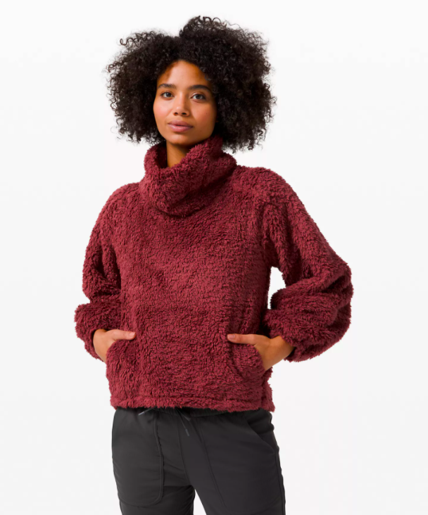 """<h3>Lululemon Warm Restore Sherpa pullover</h3><br>""""Not only is this teddy coat stylish, but it will keep your Cap friend warm during the blistering cold days of winter,"""" says Stardust.<br><br><strong>lululemon</strong> Warm Restore Sherpa Pullover, $, available at <a href=""""https://go.skimresources.com/?id=30283X879131&url=https%3A%2F%2Fshop.lululemon.com%2Fp%2Fwomens-outerwear%2FWarm-Restore-Sherpa-Pullover-MD%2F_%2Fprod10260190%3Fcolor%3D34270"""" rel=""""nofollow noopener"""" target=""""_blank"""" data-ylk=""""slk:lululemon"""" class=""""link rapid-noclick-resp"""">lululemon</a>"""