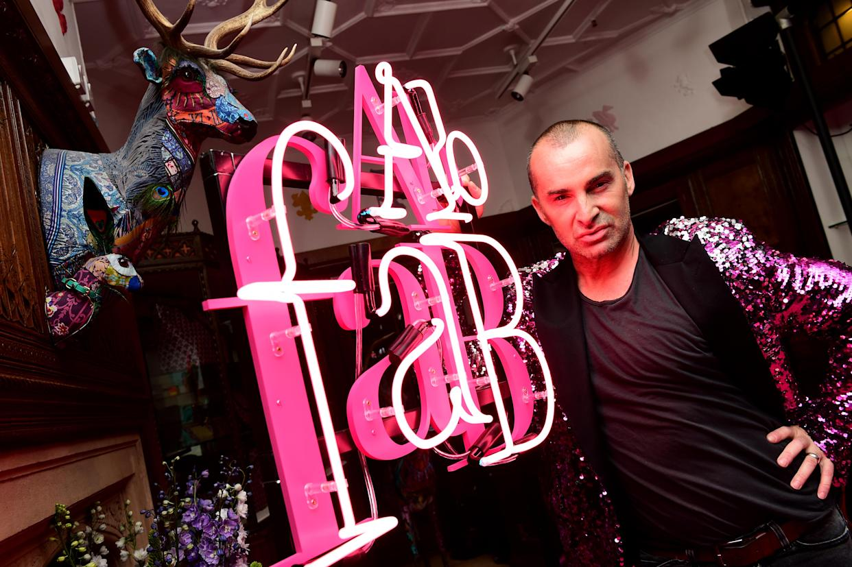 Louie Spence attending the Absolutely Fabulous The Movie After Party held at Liberty Department Store in London.