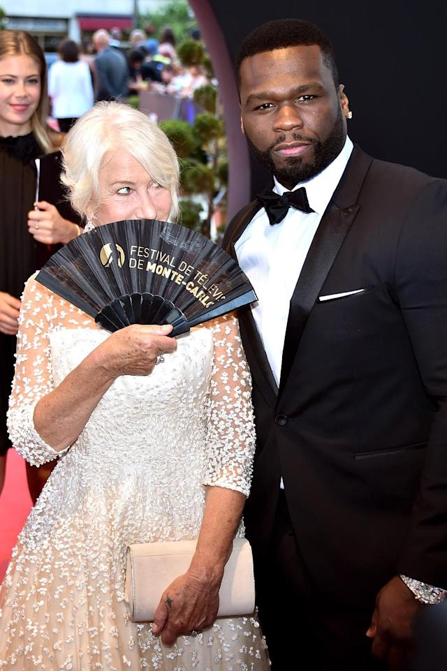 <p>Mirren, 71, couldn't help but flirt with 50 — aka 41-year-old Curtis Jackson — at the closing ceremony of the 57th Monte Carlo TV Festival in Monaco. He didn't seem to mind! (Photo: Stephane Cardinale – Corbis/Corbis via Getty Images) </p>