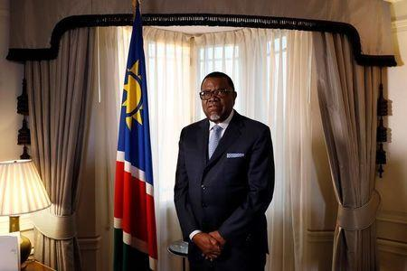 President Hage Geingob of Namibia poses for a photograph before an interview with Reuters in central London, Britain December 1, 2016. REUTERS/Stefan Wermuth
