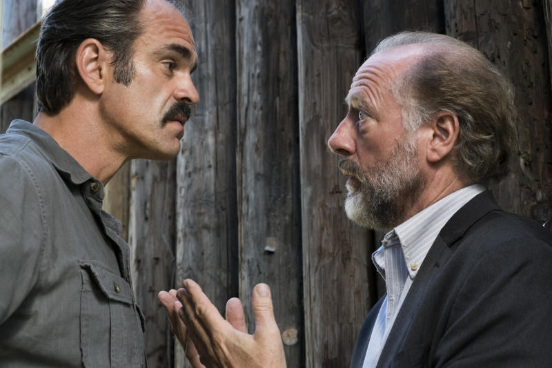 Steven Ogg as Simon (left), and Xander Berkeley as Gregory (right). (Gene Page/AMC)