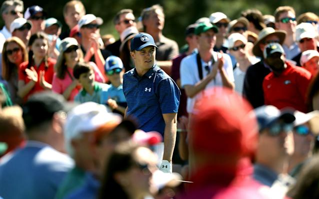 <span>Jordan Spieth is an Augusta crowd favourite</span> <span>Credit: GETTY IMAGES </span>