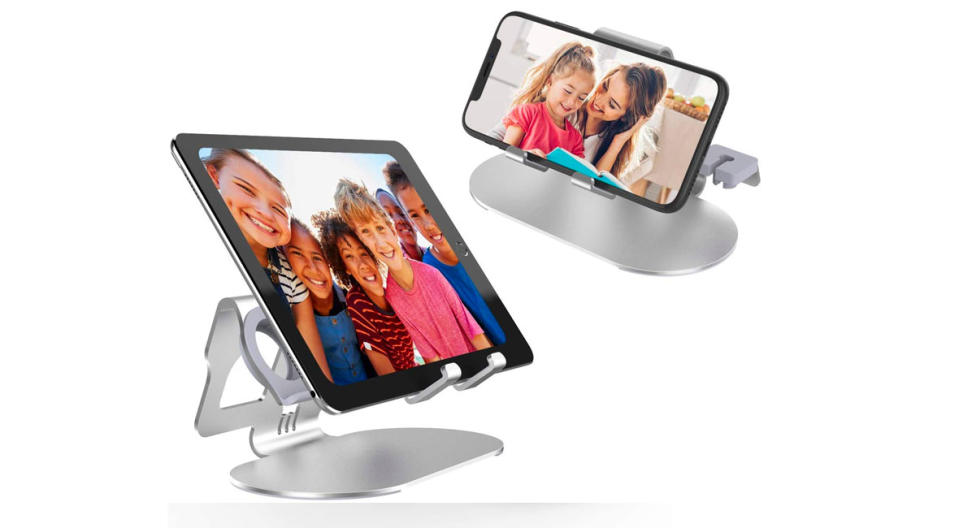 Mount your iPad or iPhone vertically or horizontally — it's a display stand, too! (Photo: Amazon)