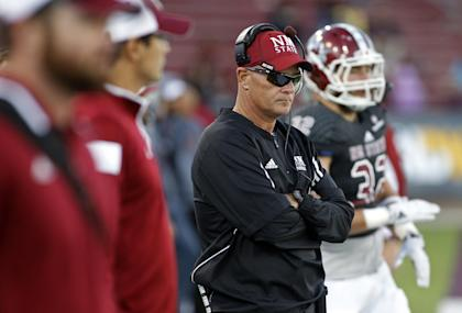 New Mexico State head coach Doug Martin. (AP Photo/Andres Leighton)