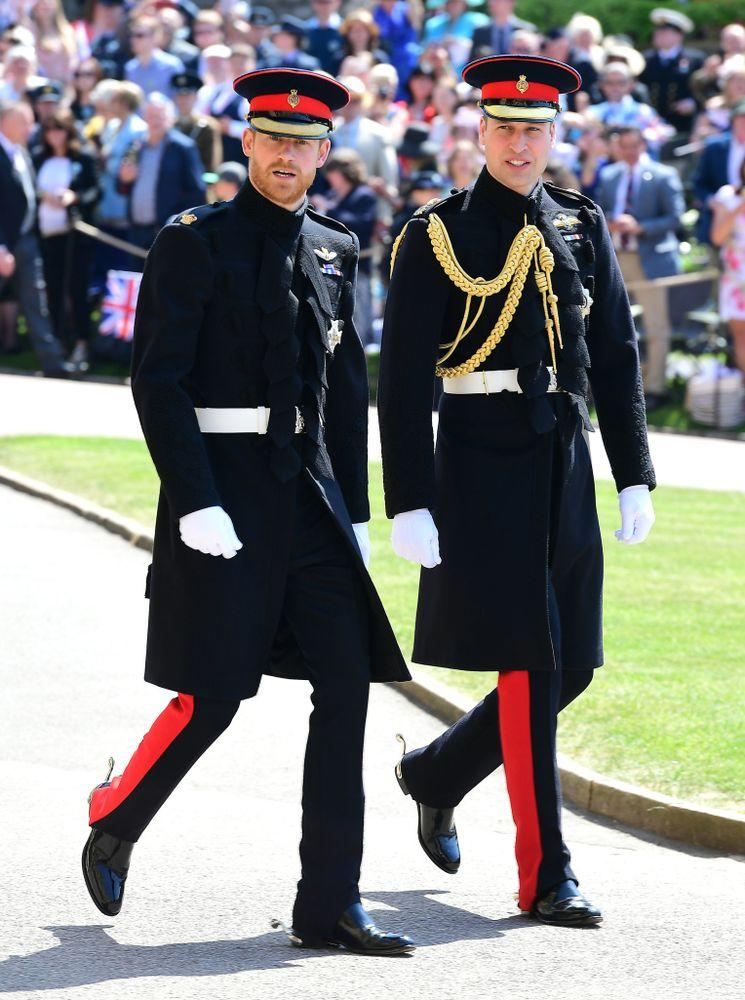 Prince Harry and Prince William at the royal wedding in May 2018 | REX/Shutterstock