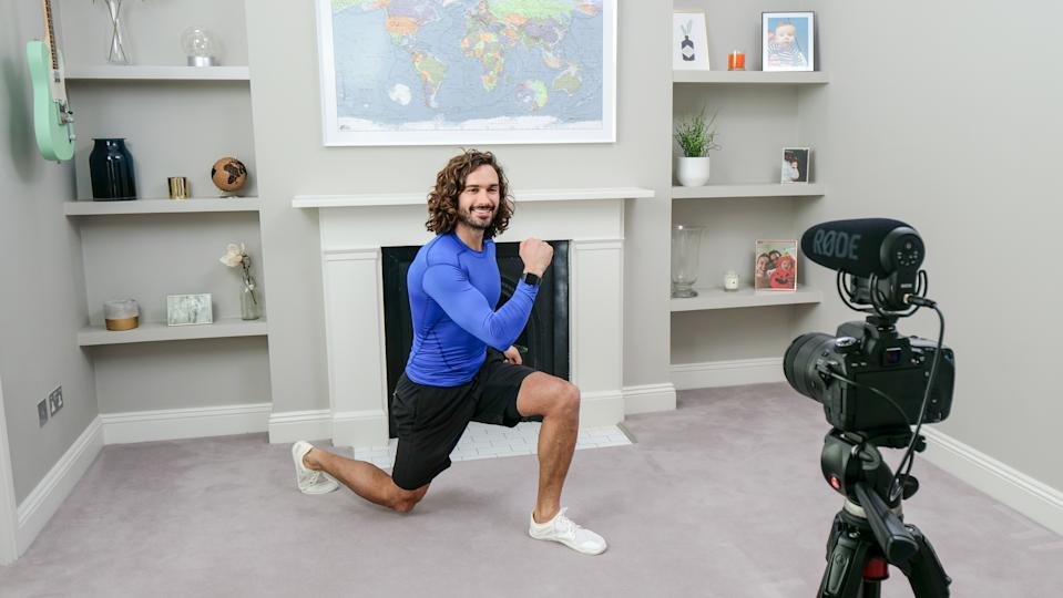 Joe Wicks has been conducting his exercise classes with an injured hand. (Photo by Comic Relief/BBC Children in Need/Comic Relief via Getty Images)