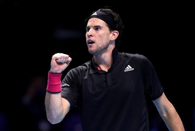 Dominic Thiem clenches his fist during his dramatic victory