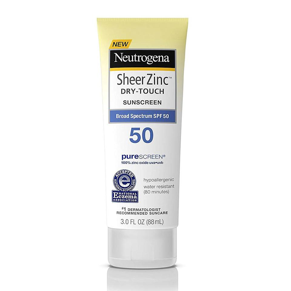 """<p><strong>Neutrogena</strong></p><p>amazon.com</p><p><strong>$34.99</strong></p><p><a href=""""http://www.amazon.com/dp/B01HOHBO7E/?tag=syn-yahoo-20&ascsubtag=%5Bartid%7C2139.g.27785406%5Bsrc%7Cyahoo-us"""" target=""""_blank"""">BUY IT HERE</a></p><p>This <a href=""""https://www.menshealth.com/health/a27547765/sunscreen-dangers-report-ewg-2019-oxybenzone/"""" target=""""_blank"""">EWG-approved mineral sunscreen</a> will effectively protect you from harsh UV rays while you're out in the sun on your camping adventure. The non-greasy, water-resistant formula absorbs quickly into your skin, without leaving behind any annoying white residue marks.</p>"""