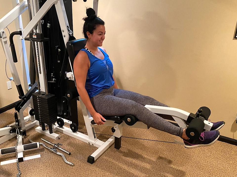"""My legs were shaking by the end of this workout. <p class=""""copyright"""">Fabiana Buontempo for Insider</p>"""