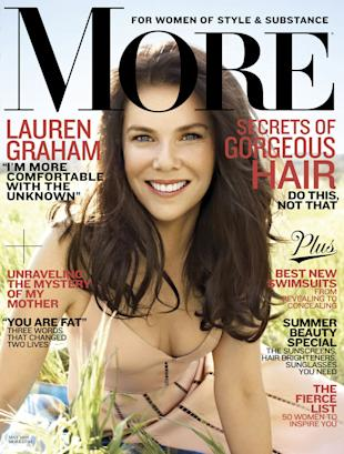 "Lauren Graham in the May 2013 issue of ""More"""