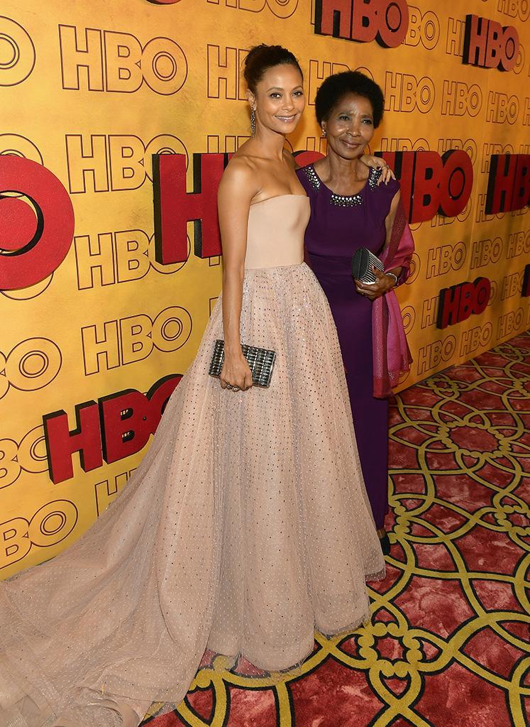 <p>Thandie Newton and Nyasha Newton at HBO's Post Emmy Awards Reception at the Plaza at the Pacific Design Center. (Photo: Matt Winkelmeyer/Getty Images) </p>