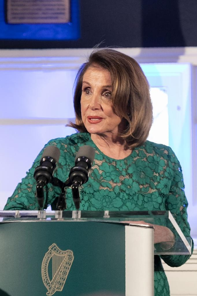 Speaker of the US House of Representatives Nancy Pelosi, seen here in Dublin, Ireland on April 17, 2019, has sought to tamp down movements within her Democratic caucus to begin impeachment proceedings against US President Donald Trump (AFP Photo/Iain WHITE)