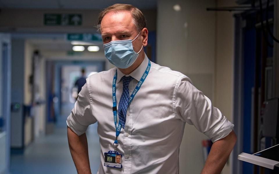 Sir Simon Stevens urged hospitals to step up Covid security measures during the summer - Victoria Jones/PA