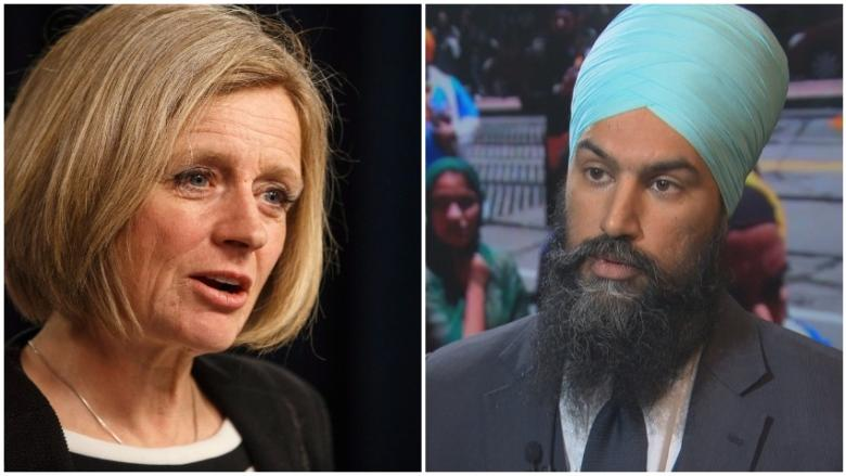 Premier Notley spars with federal NDP leader Jagmeet Singh over Trans Mountain