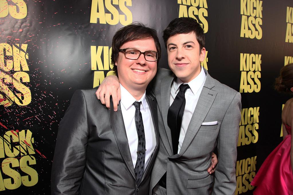 "<a href=""http://movies.yahoo.com/movie/contributor/1804500481"">Clark Duke</a> and <a href=""http://movies.yahoo.com/movie/contributor/1809856246"">Christopher Mintz-Plasse</a> at the Los Angeles premiere of <a href=""http://movies.yahoo.com/movie/1810063108/info"">Kick-Ass</a> - 04/13/2010"