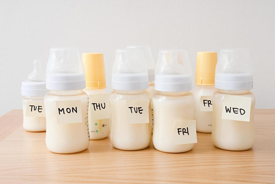 A mum has shared an image of her blue breast milk and people are amazed [Photo: Getty]