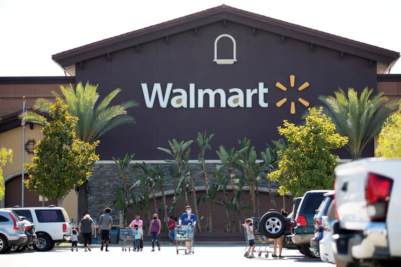 Walmart beats on profit, posts record online sales on pandemic boost