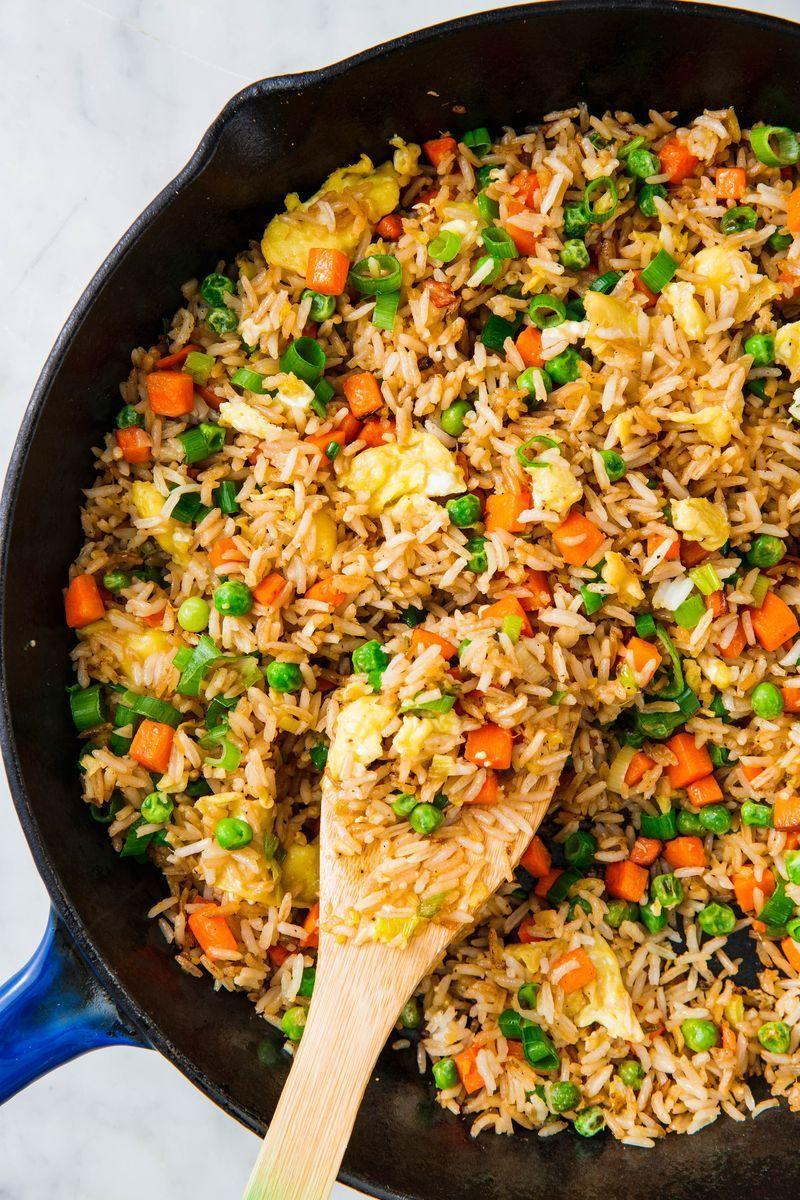 """<p>Fried rice is a dish we turn to again...and again because it's not only super easy to make, but also SO adaptable based on what ingredients are hanging out in your fridge. We love <a href=""""https://www.delish.com/uk/cooking/recipes/a28756557/beef-fried-rice-recipe/"""" rel=""""nofollow noopener"""" target=""""_blank"""" data-ylk=""""slk:beef fried rice"""" class=""""link rapid-noclick-resp"""">beef fried rice</a> and even <a href=""""https://www.delish.com/uk/cooking/recipes/a29982199/hot-dog-fried-rice-recipe/"""" rel=""""nofollow noopener"""" target=""""_blank"""" data-ylk=""""slk:hot dog fried rice"""" class=""""link rapid-noclick-resp"""">hot dog fried rice</a> (don't knock it 'til you try it).</p><p>Get the <a href=""""https://www.delish.com/uk/cooking/recipes/a30413128/how-to-make-fried-rice/"""" rel=""""nofollow noopener"""" target=""""_blank"""" data-ylk=""""slk:Perfect Fried Rice"""" class=""""link rapid-noclick-resp"""">Perfect Fried Rice</a> recipe. </p>"""