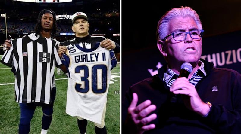 big sale fbea1 930c6 Mike Francesa Thought Todd Gurley Actually Swapped Jerseys ...
