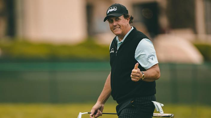 """<ul> <li><strong>Age:</strong> 50</li> <li><strong>Major wins:</strong> 6 (2004 Masters, 2005 PGA Championship, 2006 Masters, 2010 Masters, 2013 British Open, 2021 PGA Championship)</li> <li><strong>Total Pro Wins:</strong> 54</li> </ul> <p>Mickelson is easily the second-best golfer of the current era, behind Tiger Woods, and holds the record as the oldest Grand Slam winner after claiming the 2021 PGA Championship at the age of 50. In addition to his five major wins, he has 11 runner-up finishes, including six at the U.S. Open.</p> <p><a href=""""https://www.gobankingrates.com/net-worth/sports/what-is-phil-mickelson-net-worth/?utm_campaign=1106364&utm_source=yahoo.com&utm_content=19"""" rel=""""nofollow noopener"""" target=""""_blank"""" data-ylk=""""slk:Find out what his net worth is at after all this success."""" class=""""link rapid-noclick-resp"""">Find out what his net worth is at after all this success.</a></p> <p><em><strong>Check Out: </strong></em><em><strong><a href=""""https://www.gobankingrates.com/net-worth/sports/richest-athletes-younger-40/?utm_campaign=1106364&utm_source=yahoo.com&utm_content=20"""" rel=""""nofollow noopener"""" target=""""_blank"""" data-ylk=""""slk:LeBron James and More of the Richest Athletes Younger Than 40"""" class=""""link rapid-noclick-resp"""">LeBron James and More of the Richest Athletes Younger Than 40</a></strong></em></p> <p><small>Image Credits: JK Multimedia / Shutterstock.com</small></p>"""