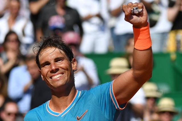 Rafael Nadal motored through his opening match in Monte Carlo (AFP Photo/Yann COATSALIOU)