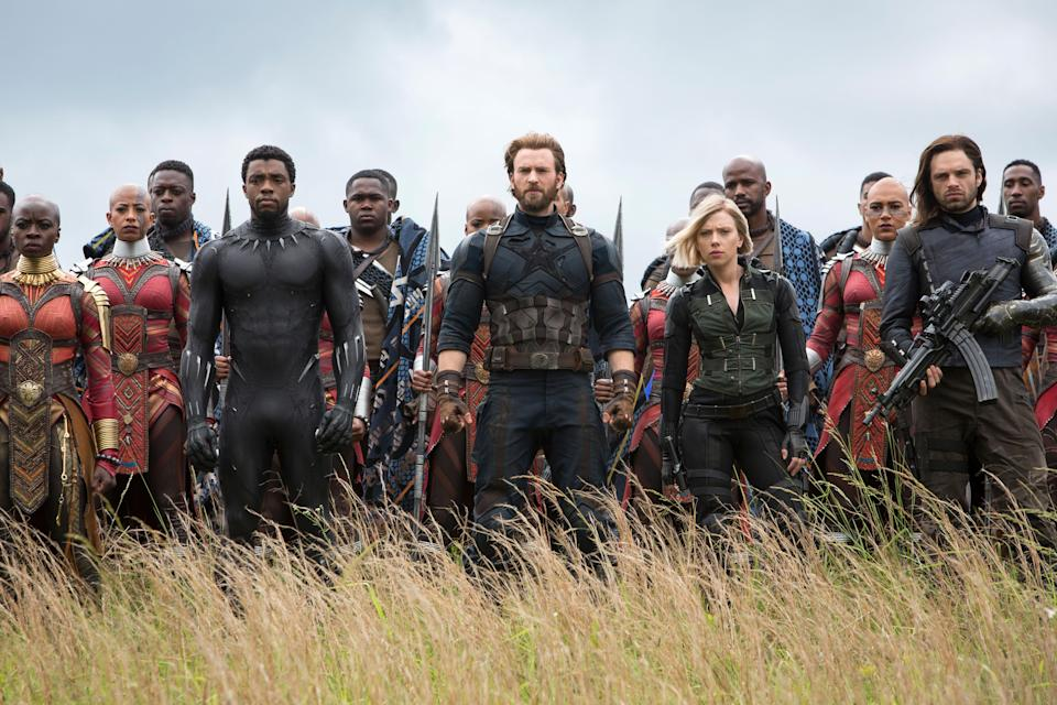 The Avengers assemble in <em>Avengers: Infinity War,</em> one of the year's biggest box office winners so far. (Photo: Chuck Zlotnick/Marvel/Walt Disney Studios Motion Pictures/Courtesy of Everett Collection)