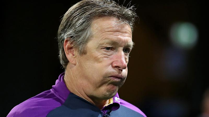 Storm coach Craig Bellamy walked out of a Friday press conference after being asked a question about rival coach Brad Arthur. (Photo by Cameron Spencer/Getty Images)