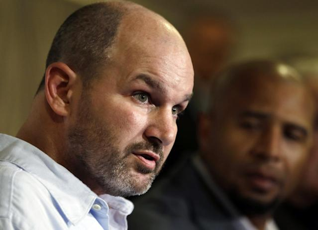 Former NFL fullback Kevin Turner, shown here in 2013, died in March. (AP)