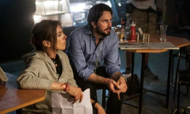 Director Kathryn Bigelow and writer Mark Boal on the set of Zero Dark Thirty: Bigelow, who won Best Director for The Hurt Locker, was snubbed this year.