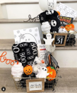 """<p>A wire basket is another perfect vessel for your spooky basket, especially because it can hold so much!</p><p><a href=""""https://www.instagram.com/p/CFsymVCg1gQ/"""" rel=""""nofollow noopener"""" target=""""_blank"""" data-ylk=""""slk:See more @makingprettymemories »"""" class=""""link rapid-noclick-resp""""><em>See more @makingprettymemories »</em></a></p>"""