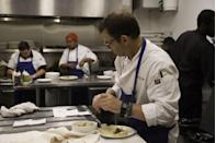 """<p>Chefs aren't responsible for the <a href=""""https://www.gettyimages.com/detail/news-photo/restaurant-wars-episode-1408-pictured-john-tesar-news-photo/632492150?adppopup=true"""" rel=""""nofollow noopener"""" target=""""_blank"""" data-ylk=""""slk:clean-up of the kitchen"""" class=""""link rapid-noclick-resp"""">clean-up of the kitchen</a>. It's done by production. </p>"""