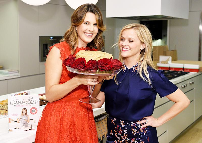 Reese Witherspoon Can't Take Her Eyes off Perfect Cake With Sprinkles Founder Candace Nelson