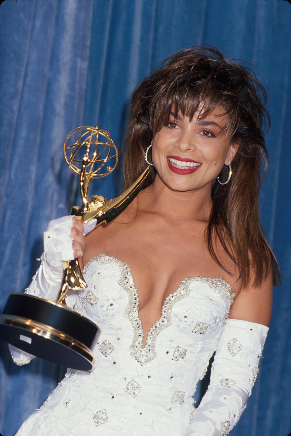 Paula Abdul winning an Emmy for her choreography. (Photo: Time Life Pictures/DMI/The LIFE Picture Collection/Getty Images)