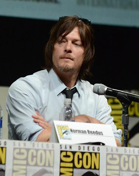 "Norman Reedus participates in ""The Walking Dead"" panel on Day 3 of Comic-Con International on Friday, July 19, 2103, in San Diego. (Photo by Jordan Strauss/Invision/AP)"